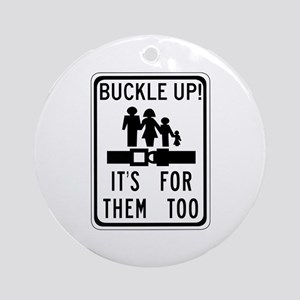 Buckle Up! Ornament (Round)