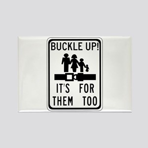 Buckle Up! Rectangle Magnet