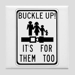 Buckle Up! Tile Coaster