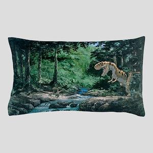 Artwork of a Tyrannosaurus rex dinosau Pillow Case