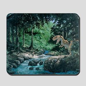 Artwork of a Tyrannosaurus rex dinosaur Mousepad
