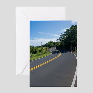 16x10 Hawaii Road to Hana Greeting Card