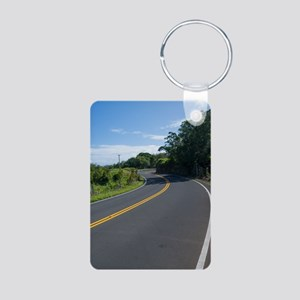 16x10 Hawaii Road to Hana Aluminum Photo Keychain