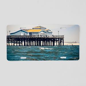 HDR Seal Beach Pier Aluminum License Plate