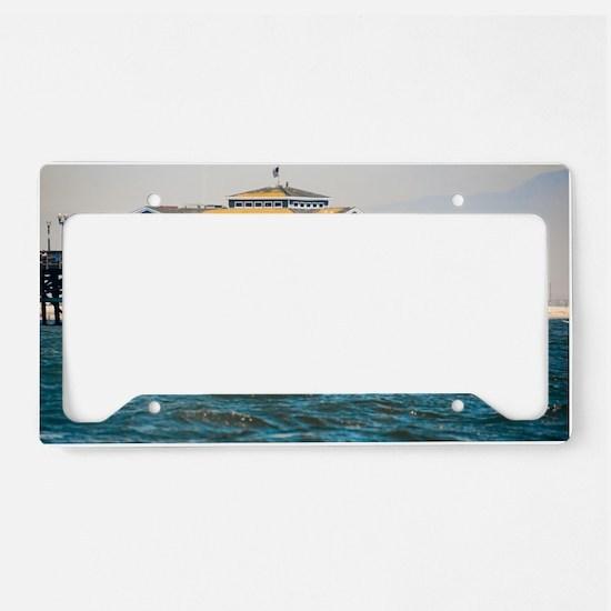 HDR Seal Beach Pier License Plate Holder