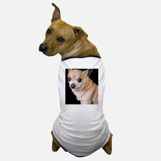 tan chihuahua on black background Dog T-Shirt