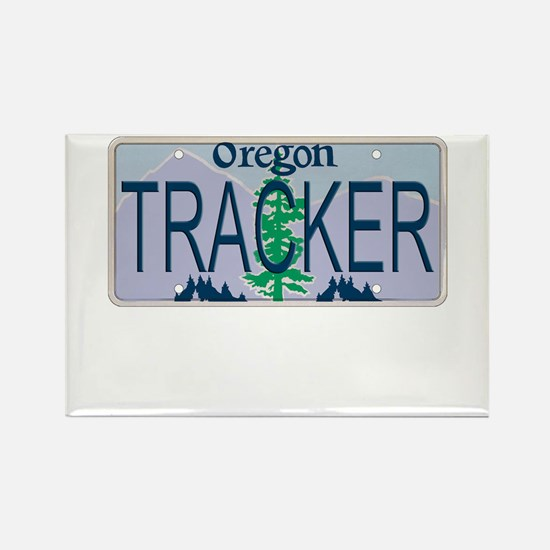 Oregon Tracker Rectangle Magnet