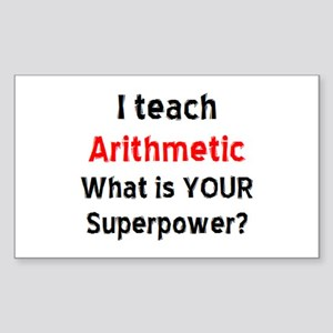 arithmetic Sticker (Rectangle)