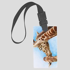 Giraffe and Calf iPad Mini Case Large Luggage Tag