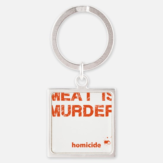 Meat is murder Square Keychain