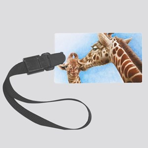 Giraffe and Calf iPad Folio Cove Large Luggage Tag