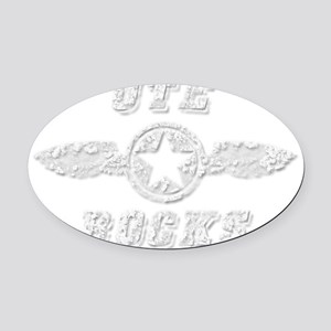 UTE ROCKS Oval Car Magnet