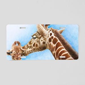 Giraffe  Calf Velcro Beer C Aluminum License Plate
