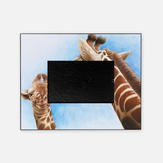 Giraffe and Calf Large Framed Print Picture Frame