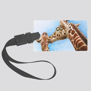 Giraffe and Calf Large Framed Pr Large Luggage Tag