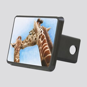 Giraffe and Calf Large Fra Rectangular Hitch Cover