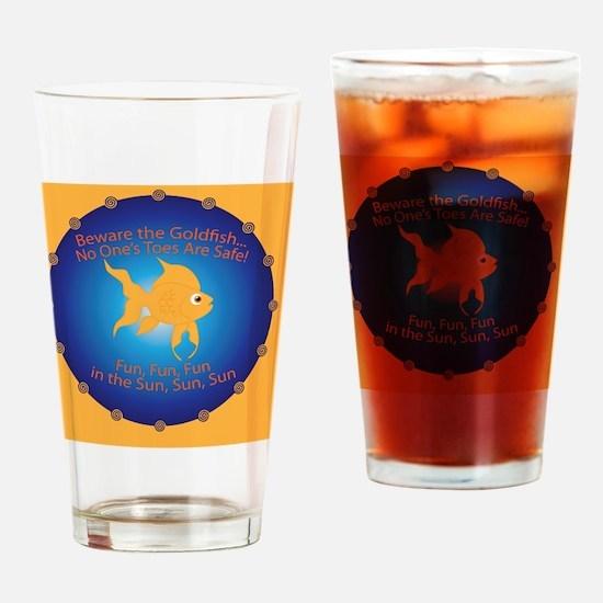 Goldfish Pin Drinking Glass