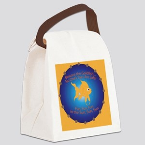 Goldfish Pin Canvas Lunch Bag