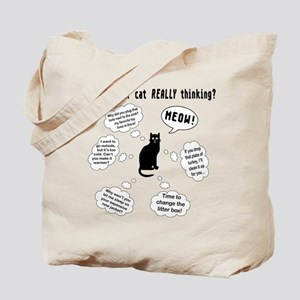 What is your cat thinking? Tote Bag