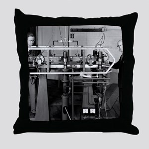 Caesium atomic clock, 1956 Throw Pillow