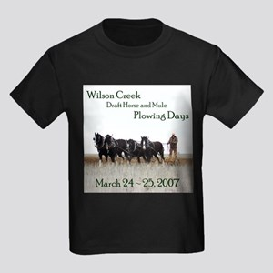 2007 Plowing Days Kids Dark T-Shirt