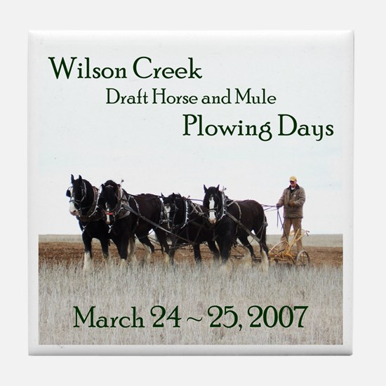 2007 Plowing Days Tile Coaster