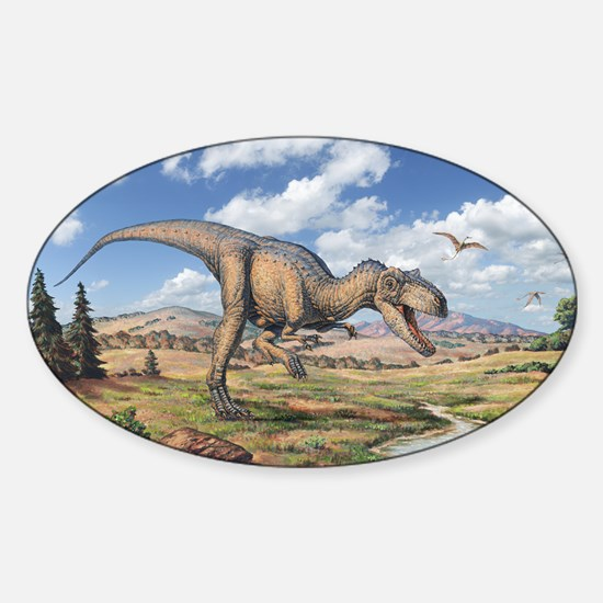 Allosaurus Sticker (Oval)
