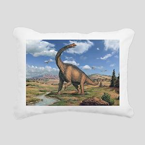 Brachiosaurus Rectangular Canvas Pillow