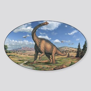 Brachiosaurus Sticker (Oval)