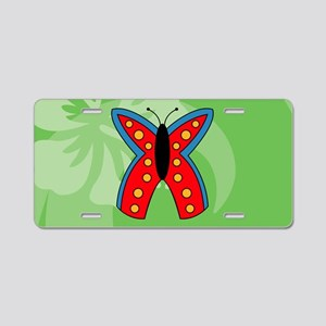 Butterfly Oval Hitch Cover Aluminum License Plate