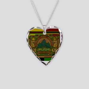 Kush 420 Shower Curtain Necklace Heart Charm
