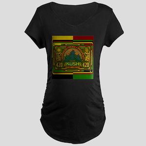 Kush 420 Shower Curtain Maternity Dark T-Shirt