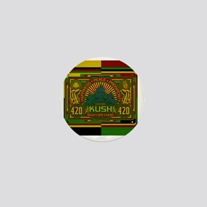 Kush 420 Shower Curtain Mini Button
