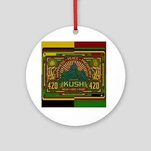 Kush 420 Shower Curtain Round Ornament
