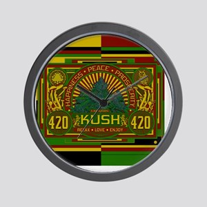 Kush 420 Shower Curtain Wall Clock