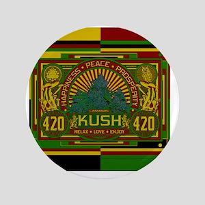 """Kush 420 Shower Curtain 3.5"""" Button"""
