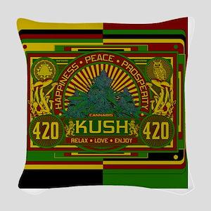 Kush 420 Shower Curtain Woven Throw Pillow