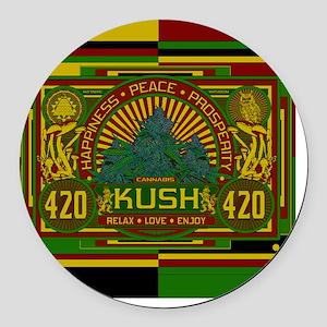 Kush 420 Shower Curtain Round Car Magnet