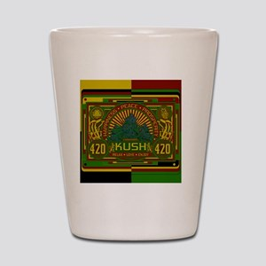 Kush 420 Shower Curtain Shot Glass