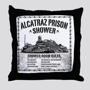 Alcatraz Shower Curtain Throw Pillow