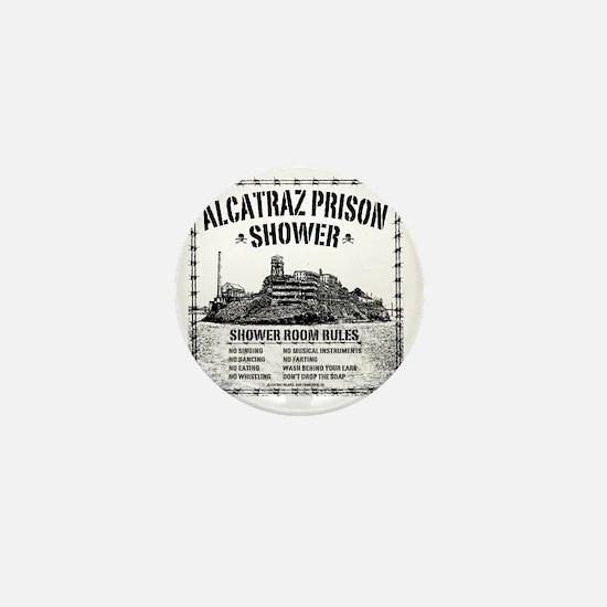 Alcatraz Shower Curtain Mini Button