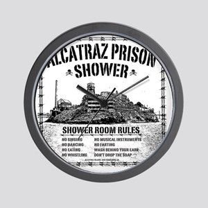 Alcatraz Shower Curtain Wall Clock