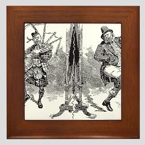 Scottish Irish Antique Playbill 1895 Framed Tile