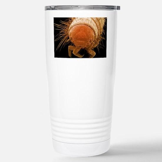 Carpet beetle larva, SE Stainless Steel Travel Mug
