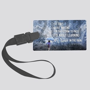 Life Isnt About Waiting Large Luggage Tag