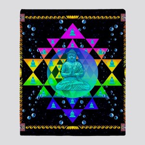 Buddha Shower Curtain Throw Blanket