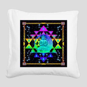 Buddha Shower Curtain Square Canvas Pillow