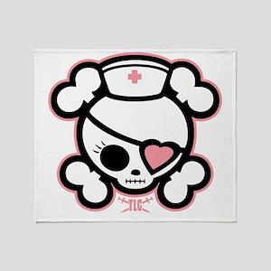 molly-rn-heart-DKT Throw Blanket