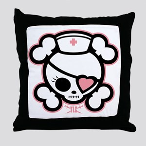 molly-rn-heart-DKT Throw Pillow