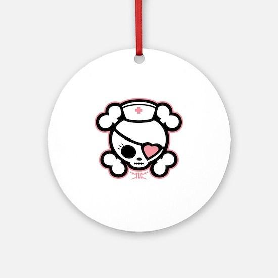 molly-rn-heart-DKT Round Ornament